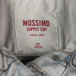 Mossimo Supply Co. Jackets & Coats - Mossimo Acid Wash White Floral Detail Denim Vest